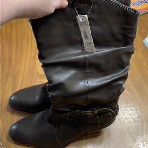 Brown mid calf boots. Brand new
